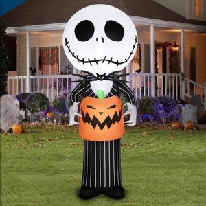 COPY - New 5 Ft Nightmare Before Christmas Jack Skellington Gemmy Inflatable